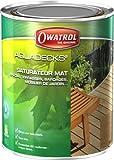 Owatrol 514 - Cubiertas aqua duraderas conservación de la madera 1 litro (teca)
