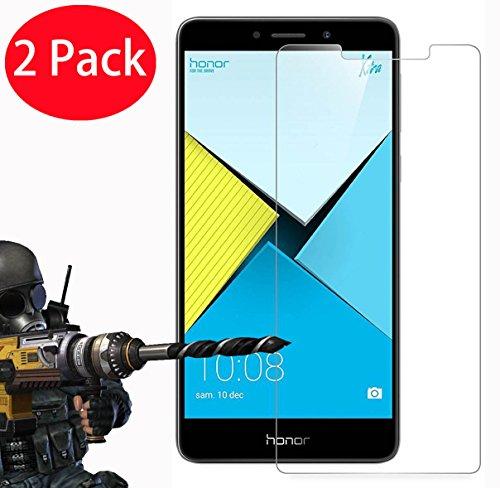 Preisvergleich Produktbild 2 Pack - Huawei Honor 6X Panzerglas,  FoneExpert® Gehärtetem Schutzfolie Glasfolie Hartglas Panzerfolie Displayschutzfolie für Huawei Honor 6X (Huawei Honor 6X)