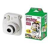Fujifilm Instax Mini 8 Fotocamera Istantanea per Stampe Formato 62x46 mm, Bianco + Fujifilm Instax Mini Film 10 Pellicola Instantanea per Instax Mini 7S, Mini 25 e Mini 50S, Set 2 Pezzi