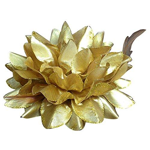 Bandeau élastique avec fleur, idéal pour une mariée, peut être porté dans les cheveux ou comme bracelet
