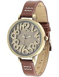 ufengke® retro freestyle handgelenk armbanduhren für frauen mädchen damen-braunes armband geschnitzt zimt ziffer zifferblatt