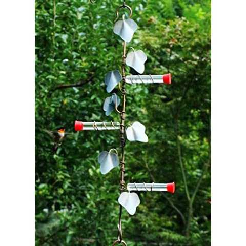 In rame per piante, 22 cm, colore: edera, 3 appendiabiti con stazioni Hummer - Hummingbird Feeder Ant Moat