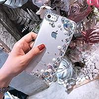 iPhone 8 Hülle, iPhone 7 Schutzhülle Diamant, EINFFHO Ultra dünne Luxus Stylisch Bling Glitzer Kristall Perle Strass Diamant Schutzhülle Hülle für iPhone 7 / 8 Case Cover Handyhülle Acrylic hart Hülle Stoßdämpfend Scratch-Resistant Handyhülle Handy Hülle Case Tasche Glänzend Funkeln Glitzer Hardcase Acryl Hart Durchsichtig Hadytasche Schutzhülle Etui Schutz Bumper für Apple iPhone 7 / iPhone 8 (Klar Strass)