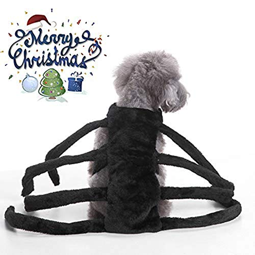 Monster töten Hund Weihnachten Spinne Kostüme, Hund Cosplay Kostüme, Pet Halloween Kleidung, Pet Cosplay Kleidungsstück (L)