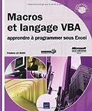 Macros et langage VBA - Apprendre à programmer sous Excel - ENI - 13/09/2010