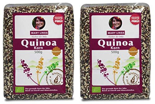 2 für 1: BIO Quinoa Korn (tricolor) (2 x 500g)