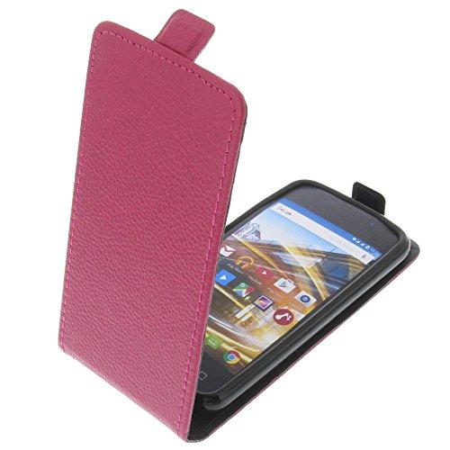 foto-kontor Tasche für Archos 40 Neon Smartphone Flipstyle Schutz Hülle pink
