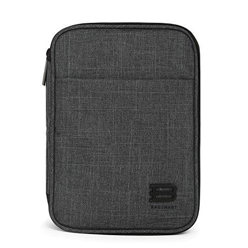 BAGSMART Eletronik Universaltasche Doppelte Fächer für Powerbank, Kabel, USB Sticks, Schwarz (Dvd Aufbewahrung Reißverschluss-tasche)