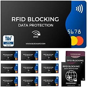 RFID Blocking NFC Custodia protettiva (12 pezzi) per carta di credito, carta bancomat, carta d'identità, passaporto… 1 spesavip