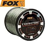 Fox Torque Line 1000m Karpfenschnur, monofile Schnur Zum Karpfenangeln, Angelschnur für Karpfenrolle