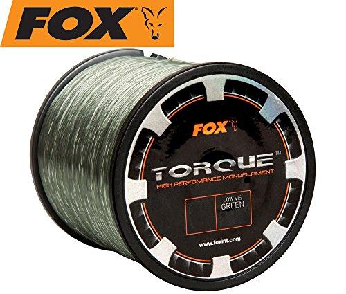 Fox Torque Line 1000m Karpfenschnur, monofile Schnur zum Karpfenangeln, Angelschnur für...