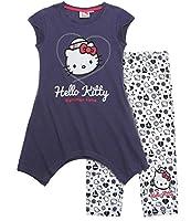 Fai ingelosire tutti con il tuo modernissimo look di Hello Kitty!; stampa all-over; Stampa con effetto glitter; Grossa stampa; pantaloni con scollatura di passaggio per portare comodo; jersey; T-Shirt: 100% cotone / Pantaloncino: 95% cotone, ...