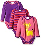 Twins Unisex Baby Langarm-Body im 3er Pack, Gr. 50, Mehrfarbig (pink/lila 3202)