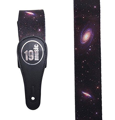 Premium Qualität Weicher Touch bequemer Mehrfarbig Infinite Astronomische Galactic Cosmic Interstellare Dark Deep Weltall Planeten Cosmos Cosmic Weltraum Sterne Stars Stellar Galaxy Akustische Elektrische Bassgitarre Verstellbare Schulter Gitarrengurt (Galaxy Vintage Rock)