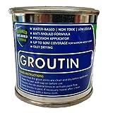 Groutin, Farbe für Fliesenfugen, 125ml, lässt die Fugen von Fliesen wieder besser aussehen, grau