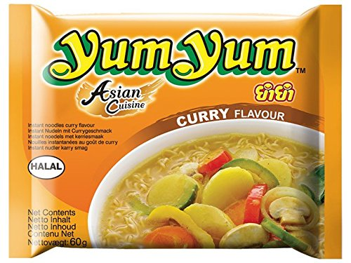 Carton 30 Soupes Nouilles Yum Yum Curry 60g