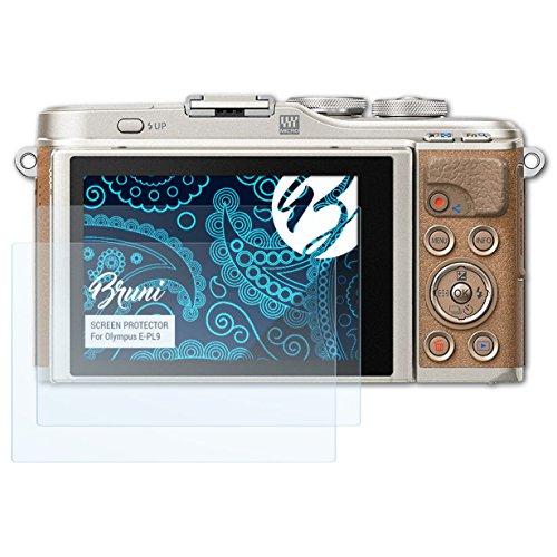 Bruni Schutzfolie für Olympus E-PL9 Folie, glasklare Displayschutzfolie (2X) Olympus Mini Digital