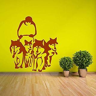 Wandaufkleber Husky Dog Huskies Schlitten Haustier Wohnzimmer Vinilos Adesiv Home Decor