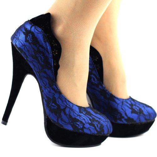 Show Story, Scarpe con plateau donna Blu (blu)