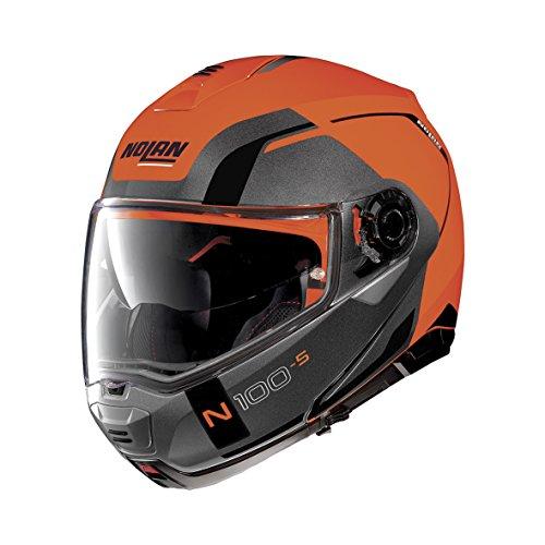 Casco Nolan N1005Consistency N-Com Flat LED naranja 27