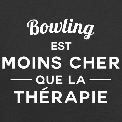 Bowling est moins cher que la thérapie - Femme T-Shirt - 14 couleur Noir