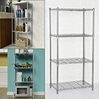 Bshop 4-Shelf Bookcases and Shelving Units Metal Shelving Units for Storage Racking Solutions Garage Shelving Units 14 x 22 x 47 Inch
