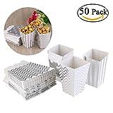 NUOLUX Sacchetti di carta per Popcorn,partito caramella contenitore trattare cartoni,