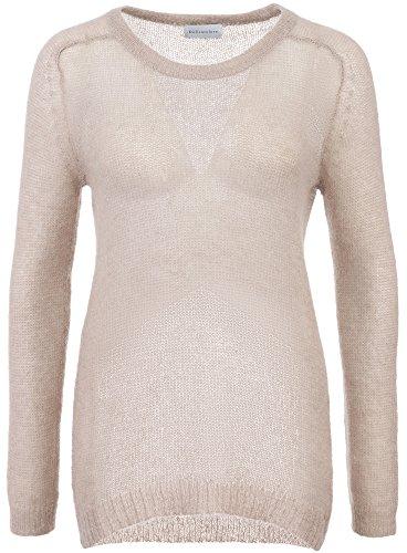 Delicatelove Damen Pullover Mohair Beige, Größe L