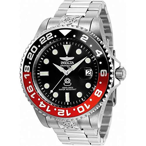 Invicta 21867 Pro Diver Herren Uhr Edelstahl Automatik grauen Zifferblat - Invicta-uhr 47mm
