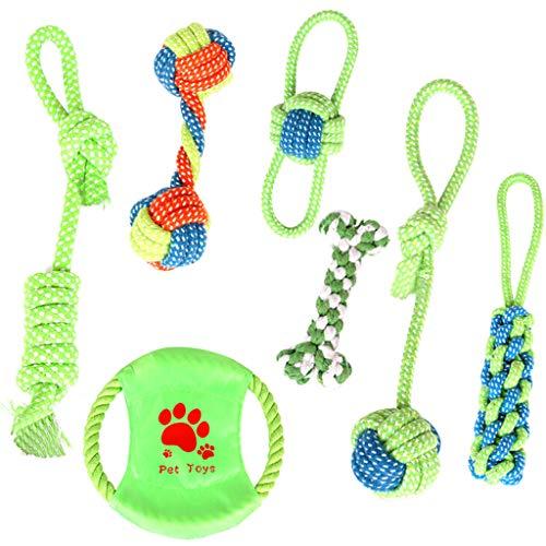 LoveLeiter Unzerstörbar Hergestellt aus Natürlicher Baumwolle und Leinen Natürlich und Ungiftig Um die Intelligenz von Hunden zu Entwickeln Diverses Hundeball Zubehör