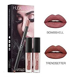 Huda Beauty Lip Contour Set in Trendsetter & Bombshell