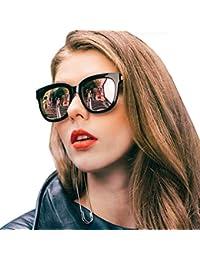 SIPHEW Gafas de Sol para Mujer con Marco Polarizado de Gran Tamaño con Protección UV400,