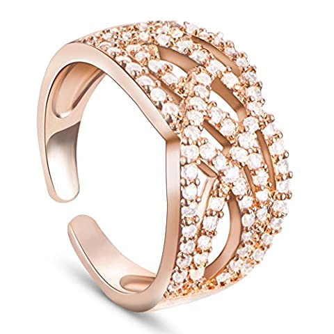stilvolle Umwelt 18 k vergoldeten Messingmanschettenringe, mit Mikro pflastern AAAZircon,golden,18mm,10mm Ring Ringe