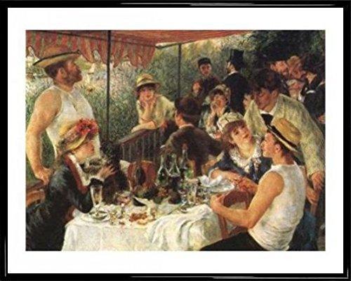 1art1 Pierre Auguste Renoir Poster Kunstdruck und Kunststoff-Rahmen - Die Mahlzeit Der Ruderer (50 x 40cm)