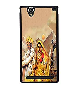 PrintVisa Poetry Of Rajasthan High Glossy Designer Back Case Cover for Sony Xperia T2 Ultra :: Sony Xperia T2 Ultra Dual SIM D5322 :: Sony Xperia T2 Ultra XM50h