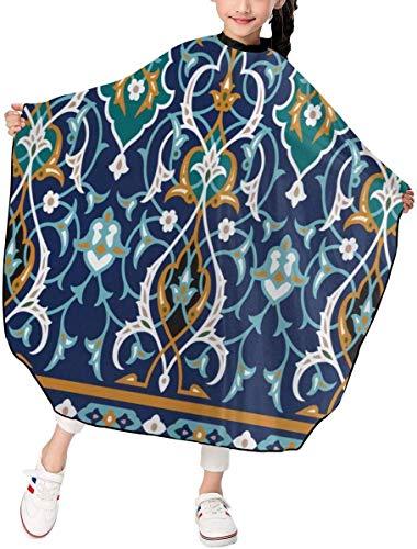 Amua Marokkanische orientalische Blütenblätter Vintage Kind Friseursalon schneiden Friseur Hairdring Cape für Kinder Haarschn