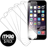 MPERO Collection 5 Pack of Clear Screen Protectors for Apple iPhone 6 4.7