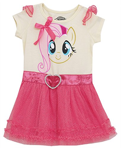My Little Pony I Am Fluttershy Mighty Fine Toddler Girls Tulle Dress with Wings