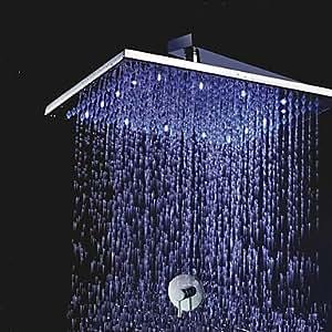 30,5cm Messing Dusche Kopf mit Farbe Bärendesign LED-Licht