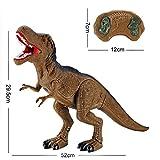QUINTRA Dinosaurier Spielzeug RC Walking Dinosaurier Spielzeug brüllt Lichter Sounds Fast Forward Funktion (B)