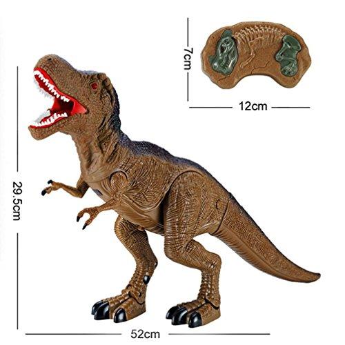 Dinosaurier-spielzeug, Das Brüllt (QUINTRA Dinosaurier Spielzeug RC Walking Dinosaurier Spielzeug brüllt Lichter Sounds Fast Forward Funktion (B))