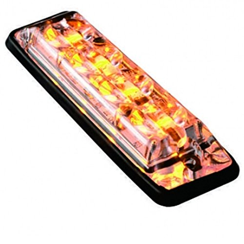 Feuerwehrstore Frontblitzer Set TIGER 4 LED R65 4x Hochleistungs- LED je Modul (Gelb) - Grill-modul