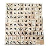 Healifty Alfabeto de madera Scrabble Azulejos Letras inglesas Juegos de mesa de artesanía Juguetes educativos