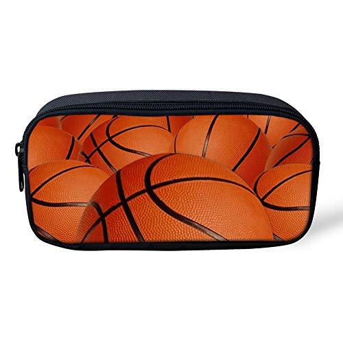 Coloranimal - Estuche escolar para niños, diseño de fútbol, para papelería, suministros de oficina, color Basketball 8.66 inch(L) x1.77 inch(W) x4.33 inch(H)
