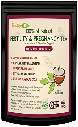 Raspberry Leaf Tea as Fertility Aid Tea for Women, Pregnancy & Maternity, Loose Leaf Blend for Regulated Cycle and Uterus Support | Made in USA