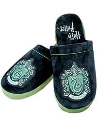 Pantoufles espadrilles peluche Harry Potter Serpentard noir vert - 38-40