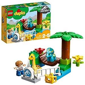 LEGO DUPLO Jurassic World - Minizoo: Gigantes Mansos, Juguete de Preescolar con Muñecos de Dinosaurios, Incluye Triceratops y Diplodocus (10879)