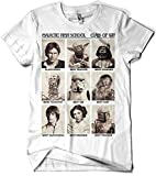 017-Camiseta Blanca Unisex Star Wars-Galactic High School - M