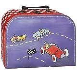 Unbekannt Kinderkoffer KLEIN - Auto / Rennwagen / Fahrzeuge - Pappkoffer - Autokoffer Koffer Kinder Pappe Karton - ideal für Spielzeug und als Geldgeschenk