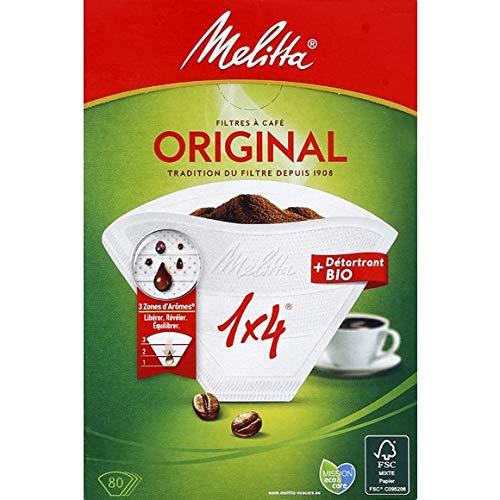 Melitta - Kaffeefilter (1: 4) - 80 Filter - Lot Von 3 - Pro Einheit - Schnelle Lieferung